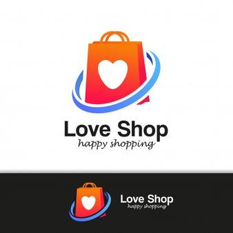 Online shop logo Vector.