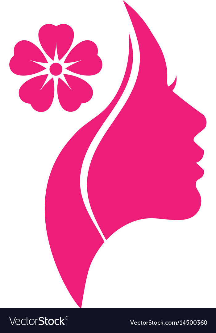 Woman salons spa and shop logo.