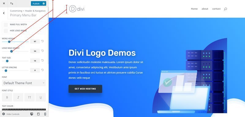Divi logo guide (size, placement & customizing guide).