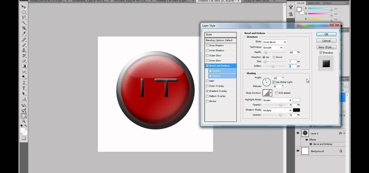 How to Make a professional YouTube logo in Photoshop CS4.