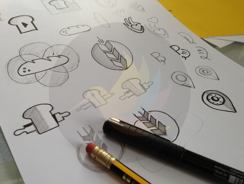 Sketching An Important Aspect Of Logo Designing.
