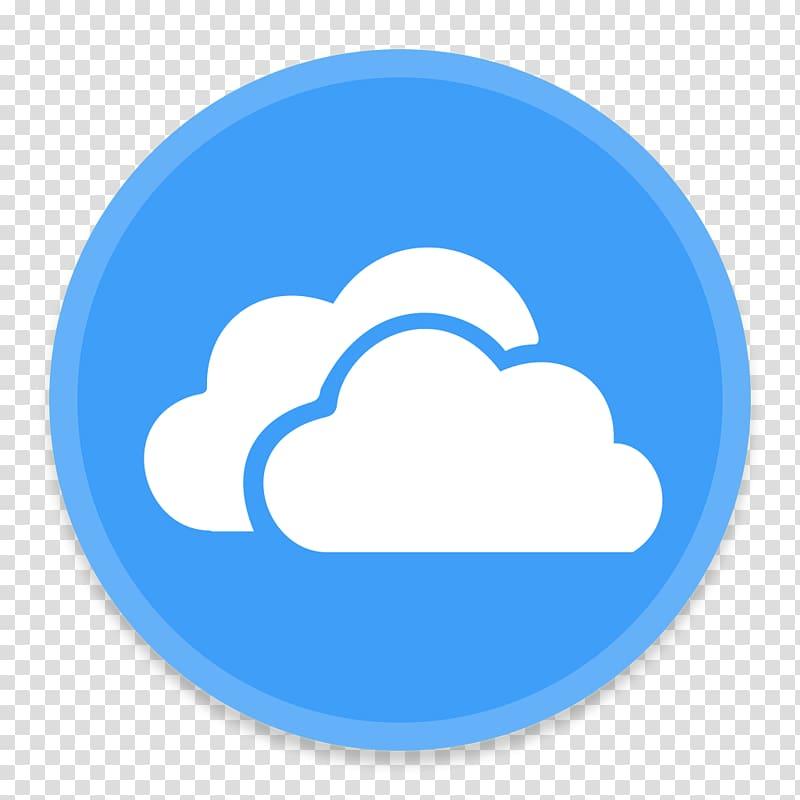 ICloud logo, blue area text symbol sky, OneDrive transparent.