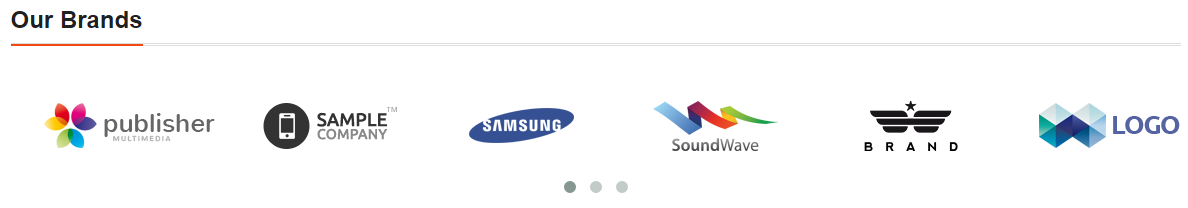 i want to get brands logo slider on my home page..