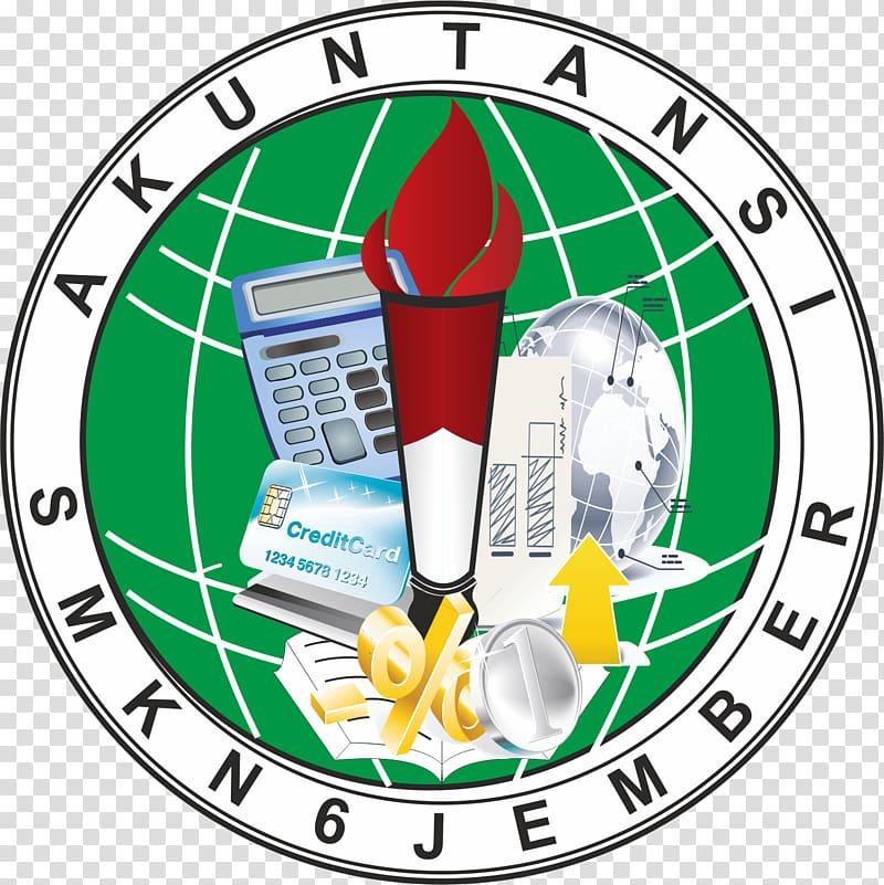 SMK Negeri 6 Jember Vocational school Logo Organization.
