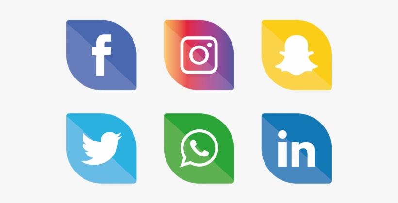 Social Media Icons Clipart.