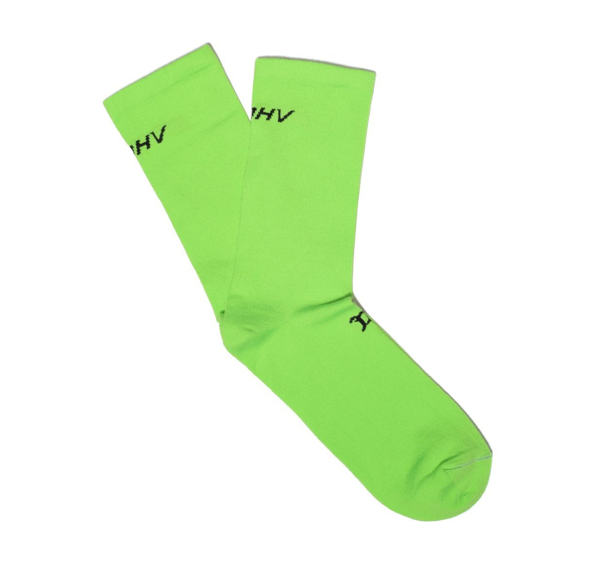 Logo Socks Neon Green.