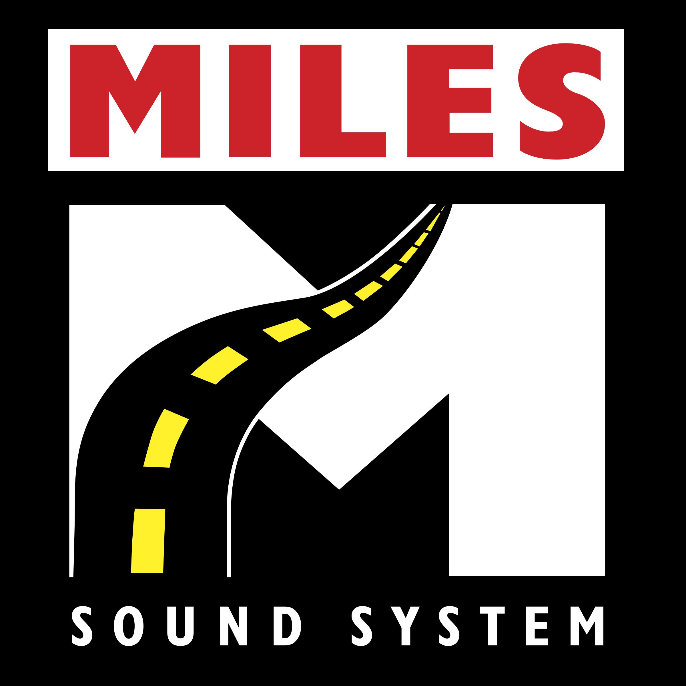 Miles Sound System Logo PNG Transparent & SVG Vector.