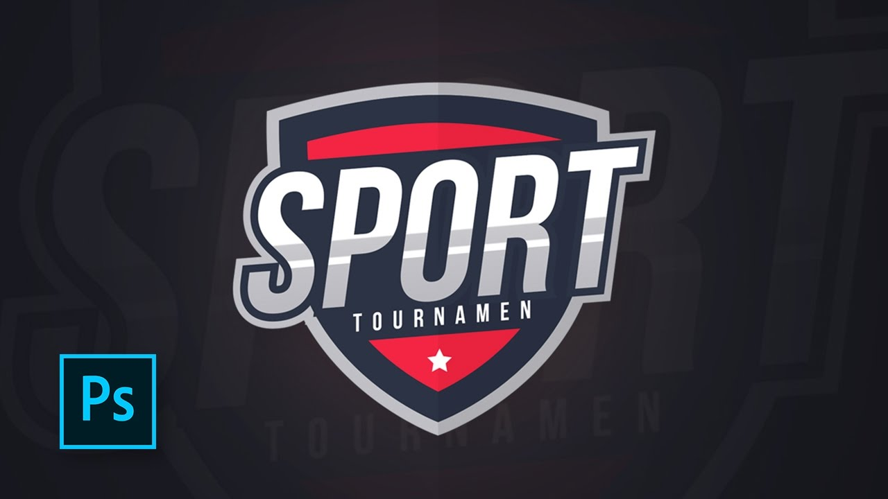 How to make a sports logo design with photoshop.
