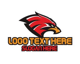 Eagle Sports Mascot Logo.