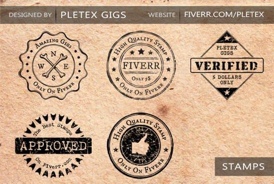 design vintage badge, stamp styled logo.