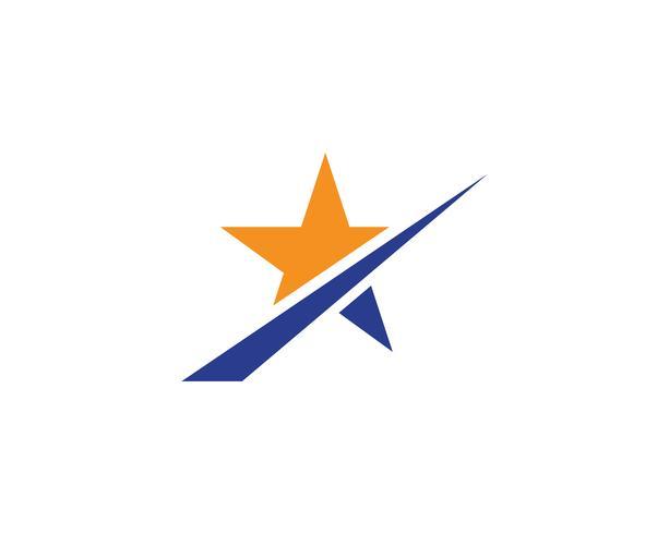 Star logo template vector icon illustration.