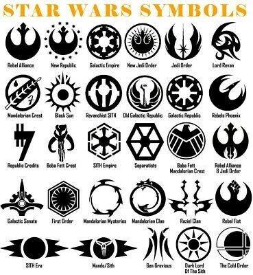Star Wars Symbol Vinyl Decal Sticker Door Window Starwars Galactic USA  Seller.