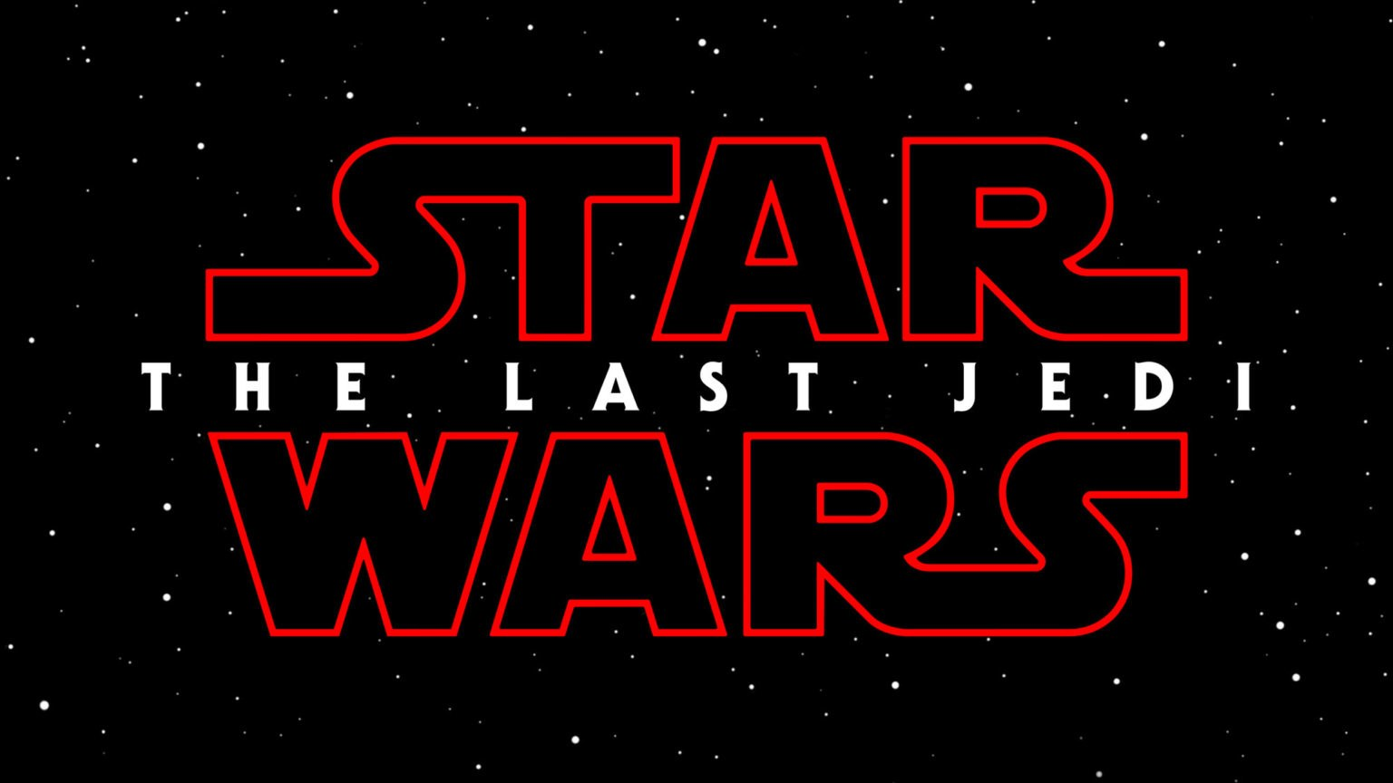 The Logo for Star Wars: The Last Jedi is red. We have a bad.