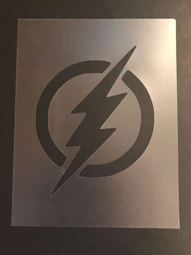 Amazon.com: Flash Logo #1 Stencil Superheroes, Batman.
