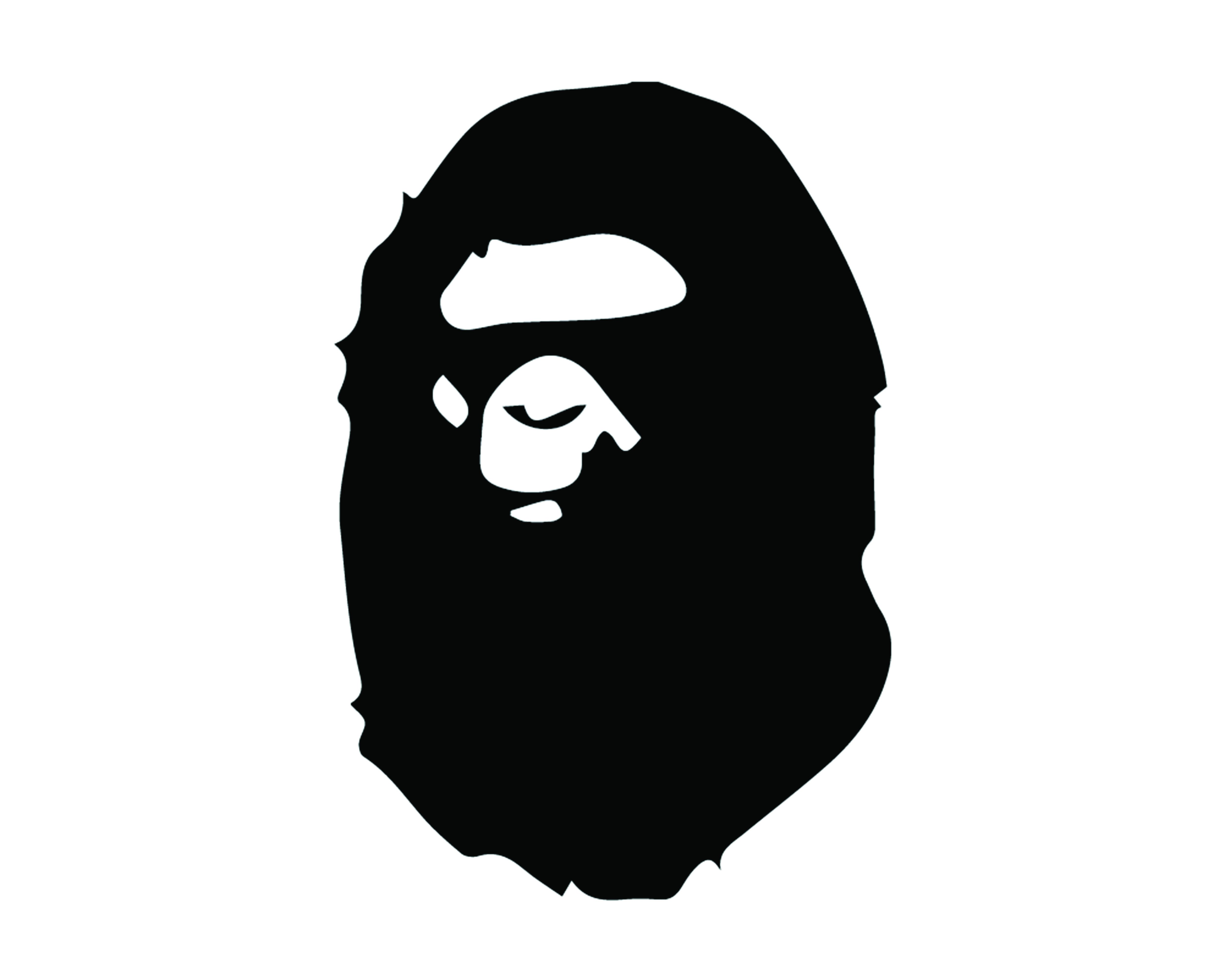 A BATHING APE FACE LOGO VINYL PAINTING STENCIL SIZE PACK *HIGH QUALITY*.