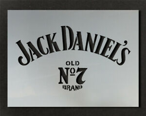 Details about Jack Daniels Logo Stencil Wall Decor Art Craft Paint Ideal  Stencils Ltd.