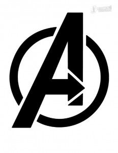 Avengers Logo Stencil.