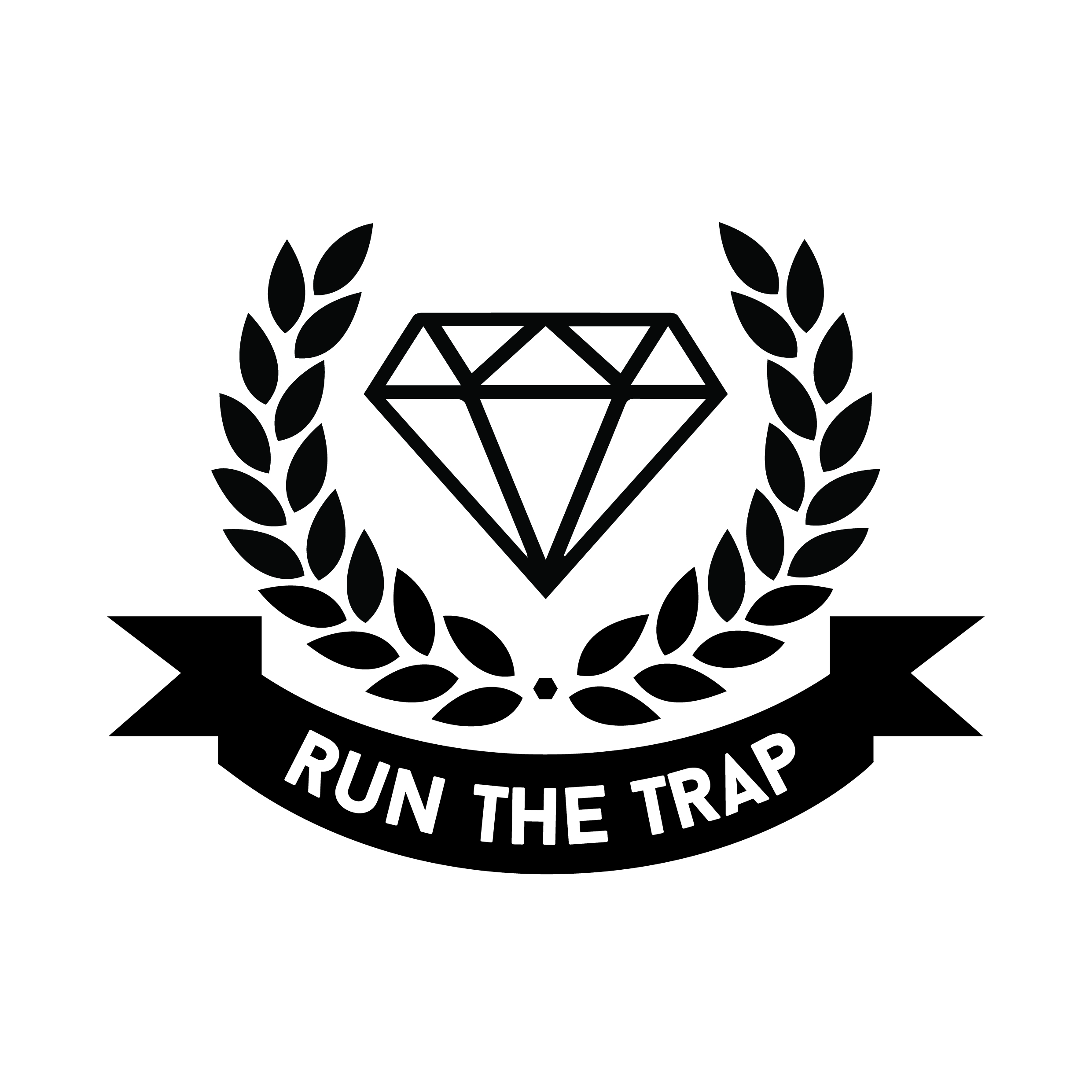 Run The Trap Logo Stickers (10 pieces).