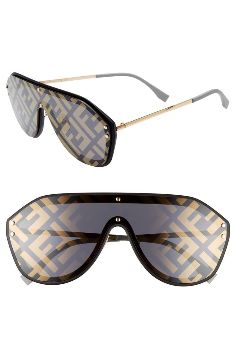 147mm Logo Lens Shield Sunglasses.