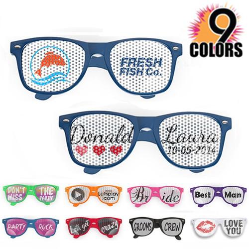 Wedding Party Favor & Promotional Logo Lenses Imprinted Sunglasses.
