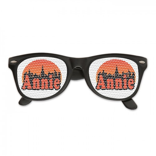 Custom Wedding & Logo Lenses Printed Oahu Sunglasses w/ Clear Lens.