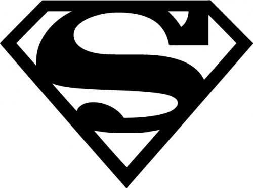 Superman Logo Silhouette.