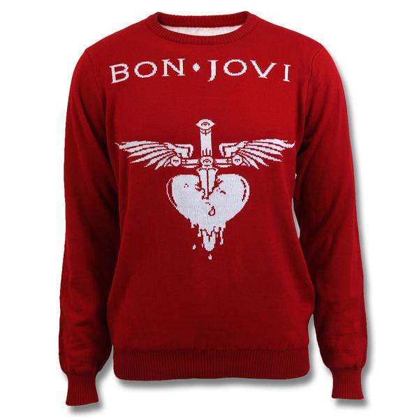 Official Bon Jovi Jacquard Logo Sweater.
