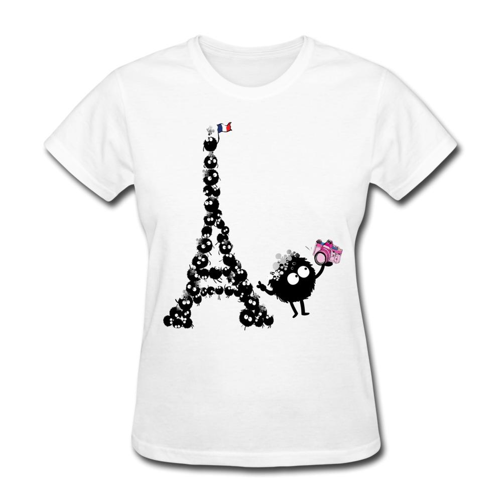 Customize Casual T Shirt Women Selfie from Paris Cool Logo T.