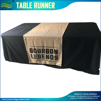 Custom Logo Screen Printing Burlap Table Runner.