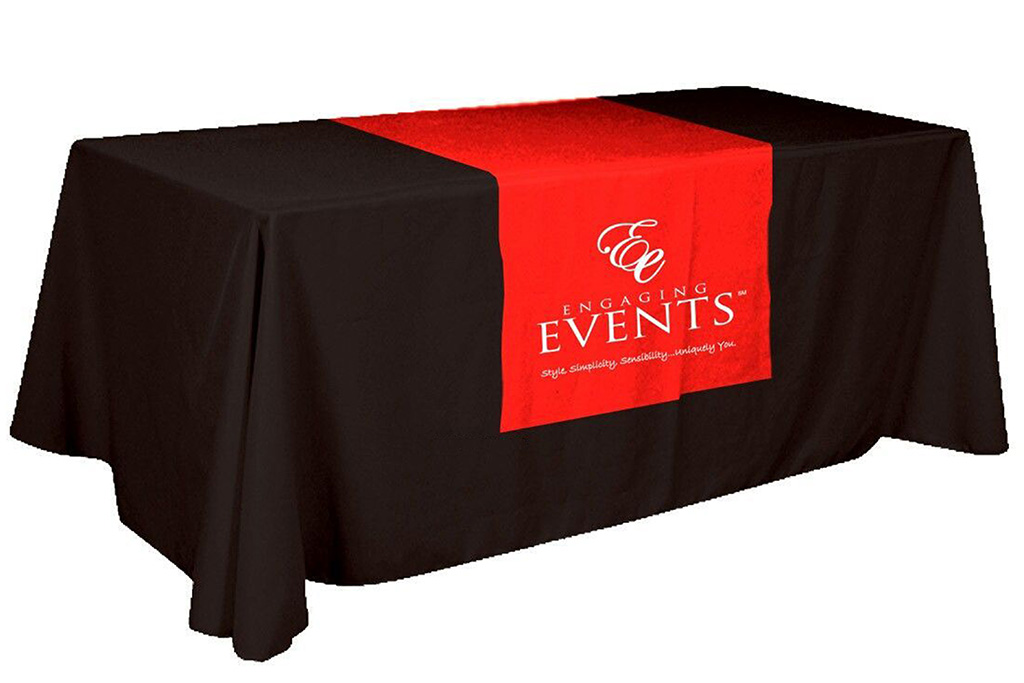 Table Runner With Logo.
