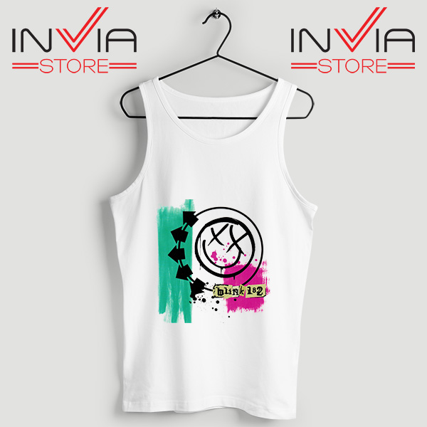 Buy Tank Top Blink 182 Logo Tank Tops Size S.