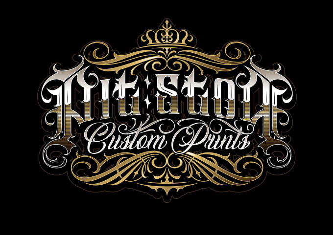 custom lettering for logo brand, tattoo, etc.