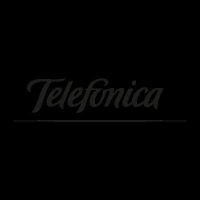 Telefonica black vector logo.