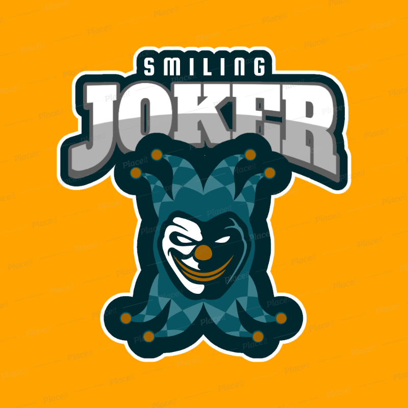Esports Logo Template with an Evil Clown Clipart 1869k.