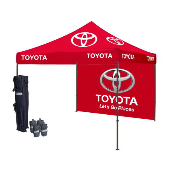 Logo printed tent package draws the special attention at.