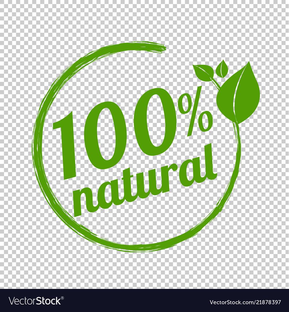 100 natural logo symbol transparent background.