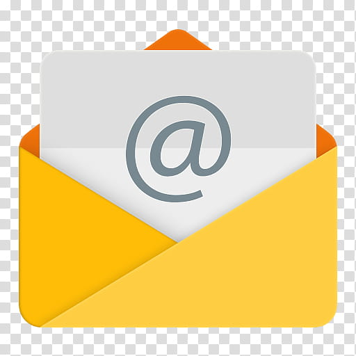 Android Lollipop Icons, Email, yellow mail logo transparent.