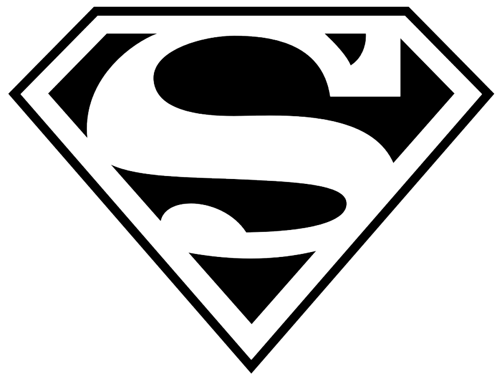 Superman Logo PNG HD Transparent Background.