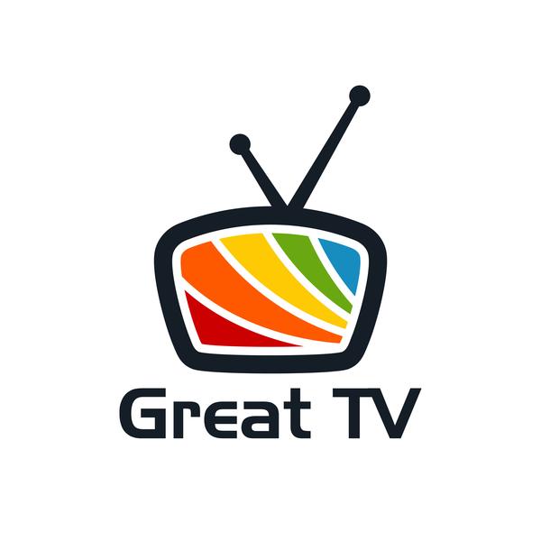 Great TV logo vector free download.