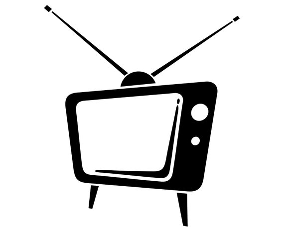 TV, Vintage, Retro, Old, Silhouette,SVG,Graphics.
