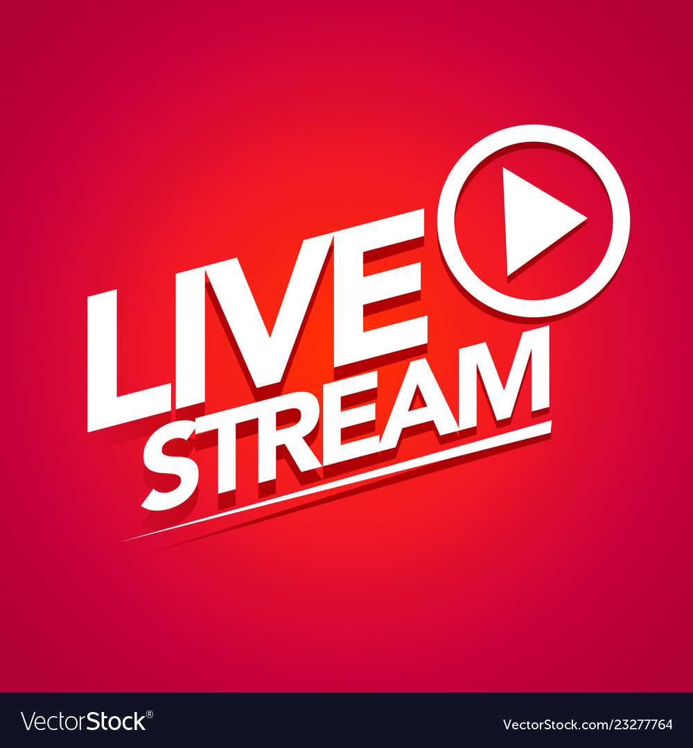 Live streaming logo with play button.