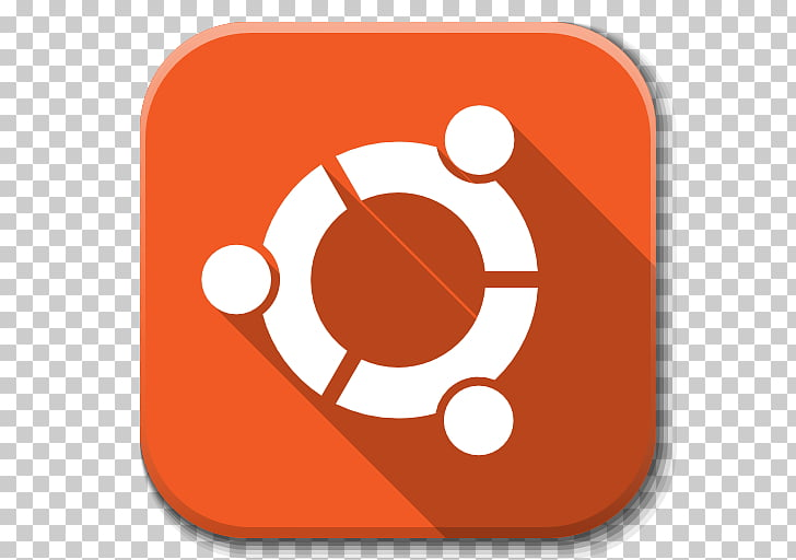 Orange , Apps Start Here Ubuntu, square red and white logo.