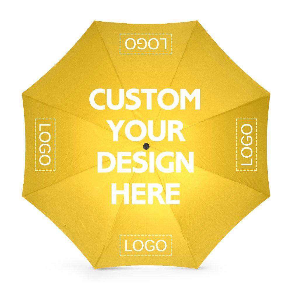 Custom Umbrellas Design Your Own Add Logo or Image Rainy/Sunny Foldable.