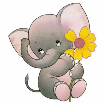 Cute Elephant Clip Art.