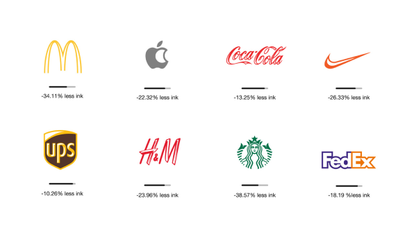 Ecobranding: Famous Corporate Logos, Redesigned To Use Less Ink.