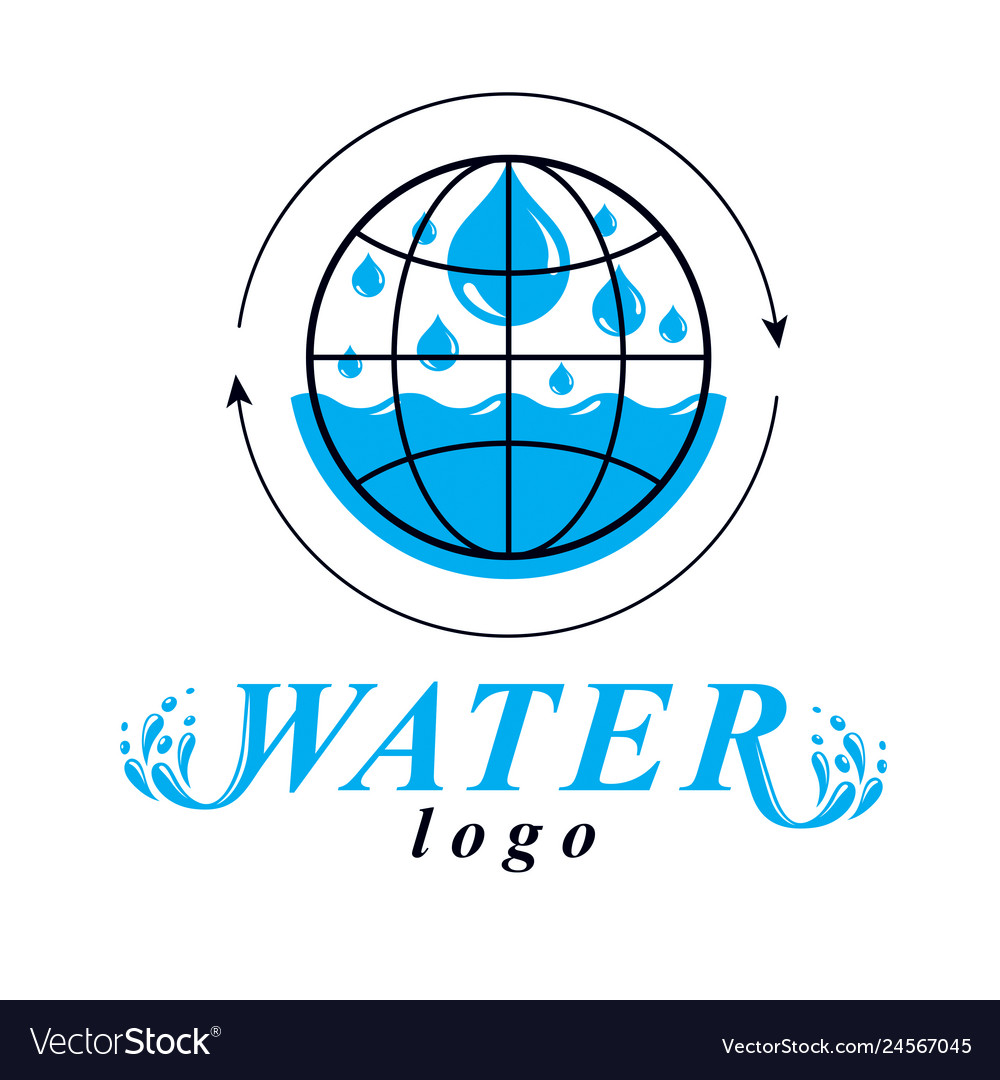 Blue clear water drop logo for use as marketing.