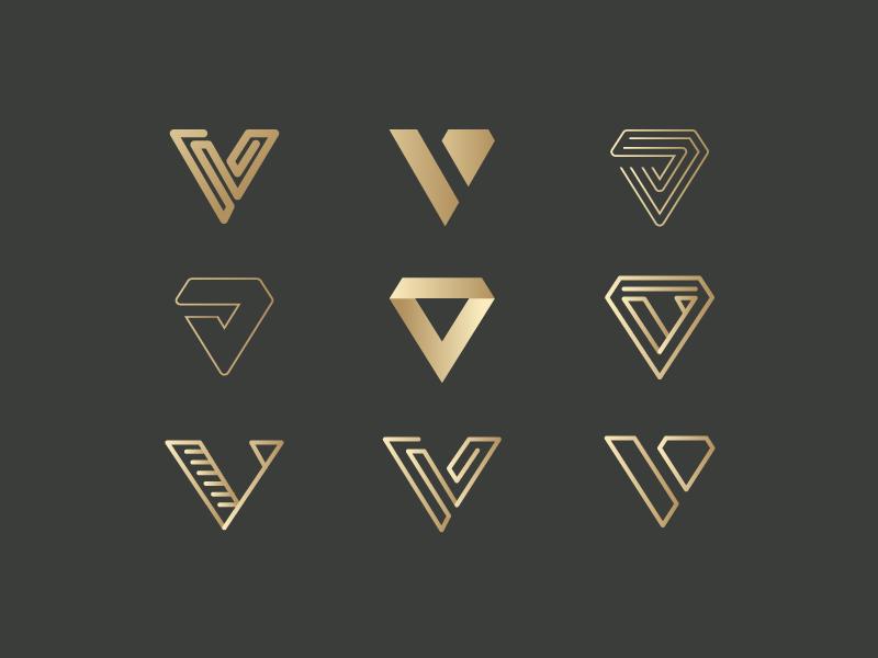 V for Vanquish logo Proposals.
