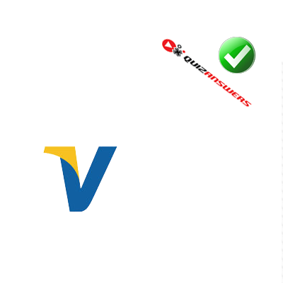 Blue and yellow v Logos.