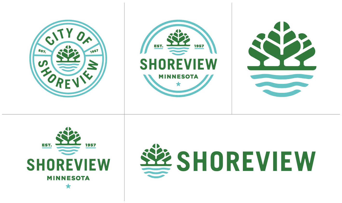 Brand New: New Logos for Shoreview, MN, by Peters Design Company.