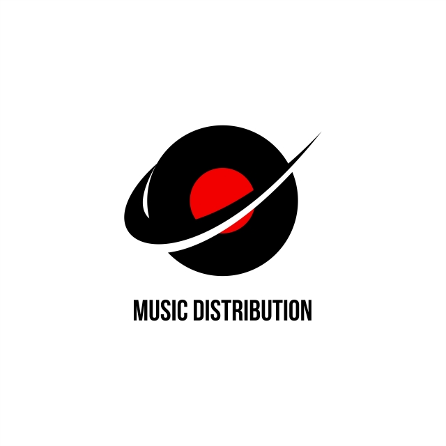 Music Distribution Logo Vector, Audio, Background, Button.